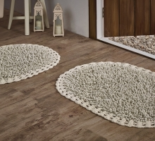 """Набор ковриков для ванной """"MODALIN"""" кружевной  с люрексом DUAL 50x80 + 45x60 см 1/2"""