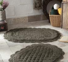 """Набор ковриков для ванной """"MODALIN"""" кружевной MERIT 50x80 + 45x60 см 1/2"""