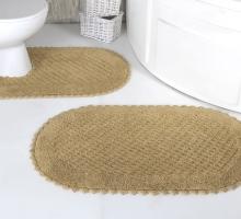 """Набор ковриков для ванной """"MODALIN"""" кружевной PRIOR 60x100 + 50x70 см 1/2"""